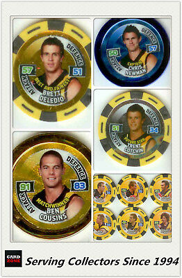 2010 Topps AFL Footy Stars Collectable Chipz MASTER TEAM SET--RICHMOND