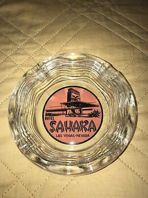 Vintage Sahara Hotel Casino Ash Tray Las Vegas Nevada Ashtray 4 1/4 inches