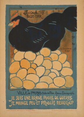 Let's take care of the poultry. Vintage French WW1 Propaganda Poster