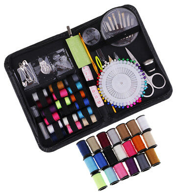 136pcs Mini Sewing Kit Sewing Supplies with Scissor Thimble Threads Needles