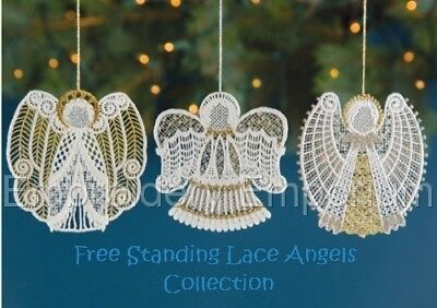 Free Standing Lace Angels Collection - Machine Embroidery Designs On Cd