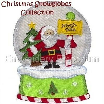Christmas Snow Globes Collection - Machine Embroidery Designs On Cd