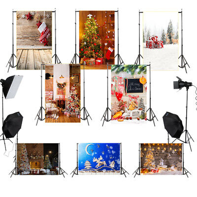 3X5ft Toile de fond de Noël Fête Décor Vinyl Backdrop Photographie Photo Studio