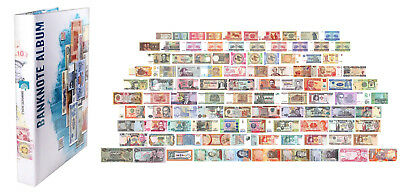 100 Pieces of Different World MIX Foreign Banknotes,Currency,Uncirculated, Album