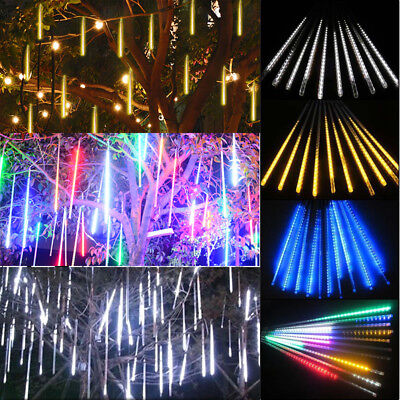 LED Meteor Shower String Fairy Lights Rain Drop Christmas Party Xmas Tree Lamp