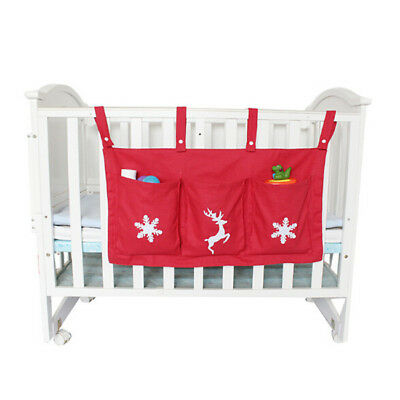 Baby Cot Bed Hanging Storage Bag Crib Organizer Toy Diaper Pocket for Crib 6A