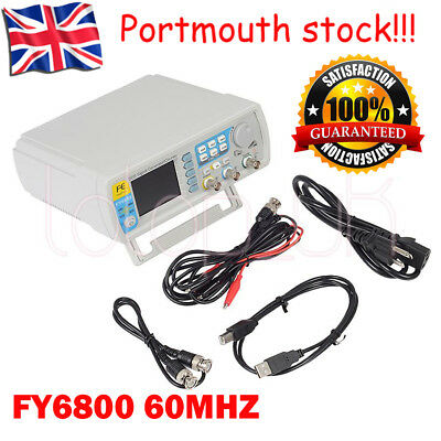 Upgraded FY6800 Dual-channel  Arbitrary Waveform Signal Generator 60MHZ in UK