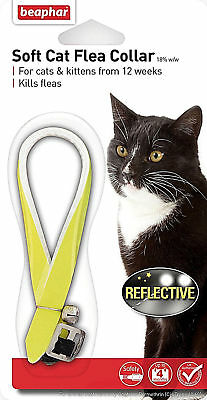 Beaphar Soft Cat Flea Collar Reflective Reflective Hi Vis Cat Flea Collar
