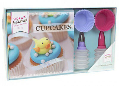 Bakers Gift set includes Recipe book and utensils choose Macaroons or Cupcakes