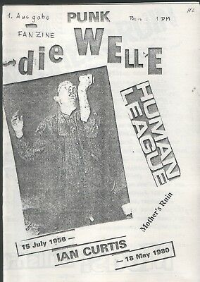 PUNK DIE WELLE Nr. 1 Fanzine - Ian Curtis Human Leaque Mother's Ruin.... A5er
