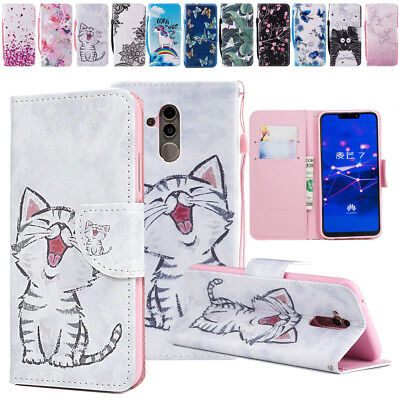 Flip PU Leather Wallet Phone Case Cover For Huawei Mate 20 lite Y9 2019 Honor 8C