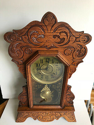 Antique New Haven - American Gingerbread Clock