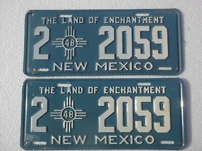 1948 New Mexico License Plates (Pair)