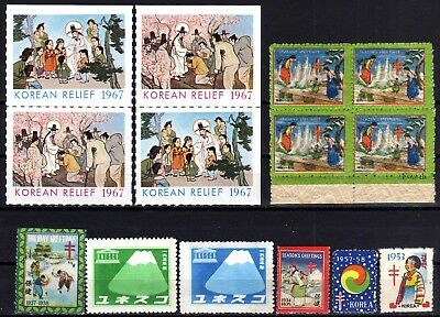 Korea Charity Label Selection, 14 Stamps