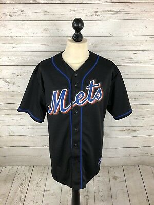 NEW YORK METS Baseball Jersey - Large - Black - Great Condition - Mens