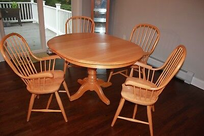 maple wood kitchen set Table & chairs Real wood Table Chairs