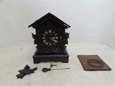 Antique Black Forest Hubert Herr Triberg Shelf Cuckoo Clock