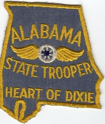 ALABAMA State TROOPER patch - ALABAMA - CHEESECLOTH back