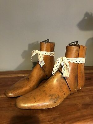 Beautiful Vintage Pair Of Wooden 3 part Shoe/boot Lasts