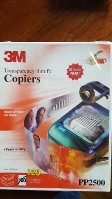 """3M PP2500 120 SHEETS Transparency Film For Copiers 8.5"""" x 11"""" -"""