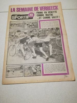 Cyclisme-Wielrennen-Ciclismo -Le Sportif 70 -Frans Verbeeck Fleche Wallonne 1974