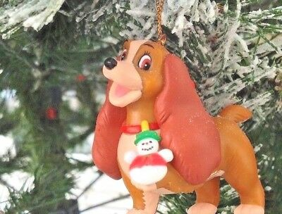 Lady and The Tramp Rare Lady Disney Grolier Christmas Magic Ornament New