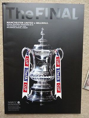 Manchester United V Millwall Fa Cup Final Football Programme 2004
