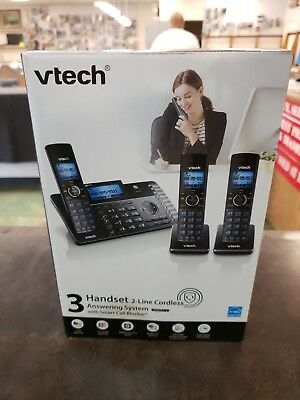 VTech® DS6251-3 DECT 6.0 Expandable 2-Line Cordless Phone With Answering System