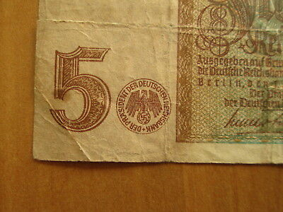 Original WW2 German Reich Hitler Money banknote - wehrmacht soldier