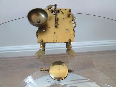 Haller Striking Mantel Clock Movement With Pendulum, Working, Striking Bell