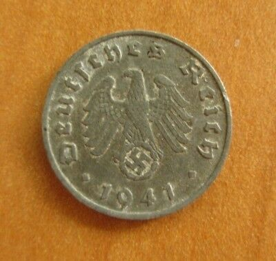 Original WW2 German Reich Hitler Money coin - wehrmacht soldier