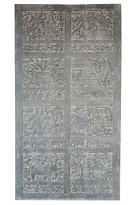 Tribal Vintage Hand Carved Wall Panel India Barn Door 72X36 CLEARANCE SALE