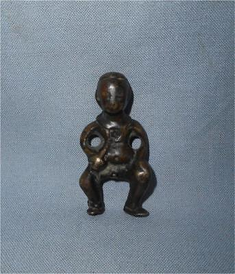 Antique Mongolia China TOP RARE HIGH AGED YUAN DYNASTY BRONZE AMULET FIGURE