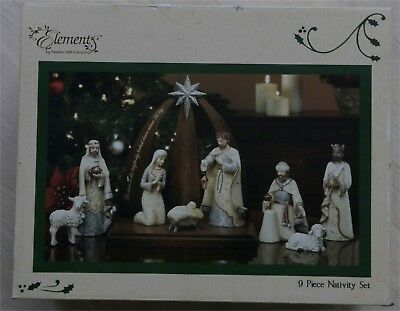 Elements 9 piece Nativity, new in box