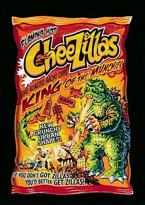 #5 CHEEZILLAS 2017 Wacky Packages 50th Anniversary MOVIE GODZILLA