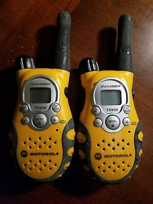 Motorola T5950 5-Mile 22-Channel FRS/GMRS Two-Way Radios (Pair) Only
