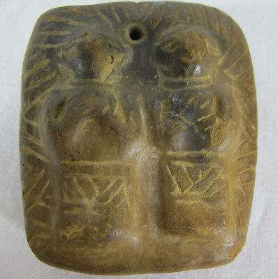 Pre-Columbian Mexican Hand Carved Pottery Figural Amulet Chinesco Nayarit  yqz
