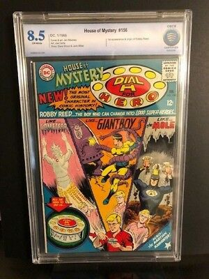 HOUSE OF MYSTERY #156 CBCS CGC 8.5 ORIGIN & 1st App of DIAL H FOR HERO REED DC
