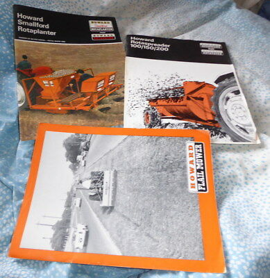 Original vintage job lot of Howard implement brochures dated 1960's