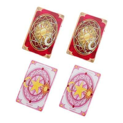 4 PCS Colorful Captor Sakura Cards Toy Prop Clow  Red Children Game Gift  Anime