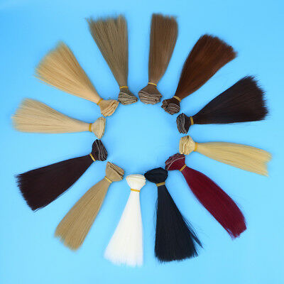 12pcs Heat Resistant Straight Fashion Wig Hair DIY Doll Wigs for Arts and Crafts