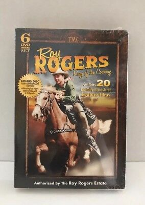 Roy Rogers: King of the Cowboys (DVD, 2012, 6-Disc Set) New, Sealed.