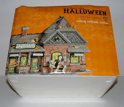 Vintage Department 56 Halloween - Rickety Railroad Station -  In Box