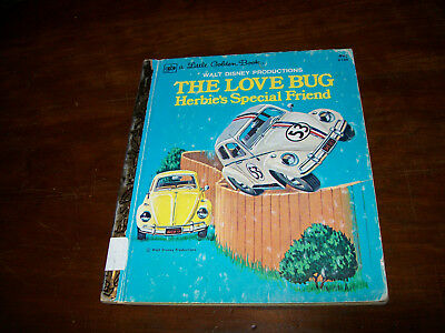 vtg golden book walt disney  the love bug, herbies special friend  1976