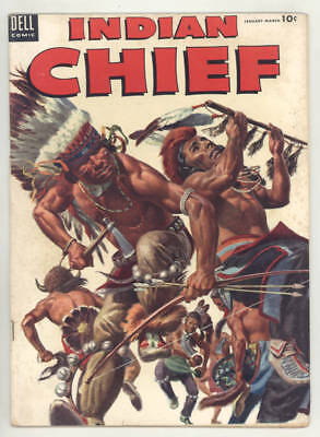 1954 INDIAN CHIEF #13 comic book with violent painted cover. NICE condition