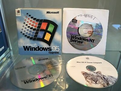 Windows 2000, XP, NT Server, 98 and 95 upgrade + OSX Snow Leopard