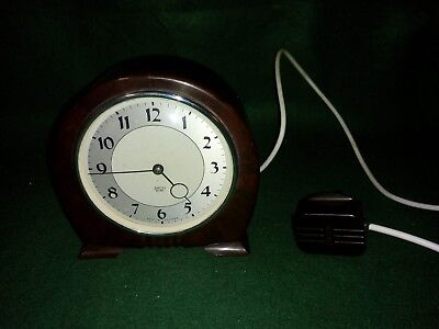 Vintage Bakelite Smiths Art Deco Sectric Electric Clock