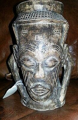 Wood Carved African Drinking Mug AFRICA