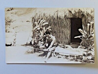 Vintage Hawaii Real Photo Postcard Honolulu 1934 Post 1126