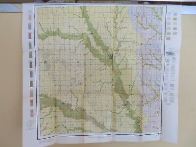 "1914 Antique Map Nebraska Seward County Utica Bee Beaver Crossing 29 X 27"" #8876"